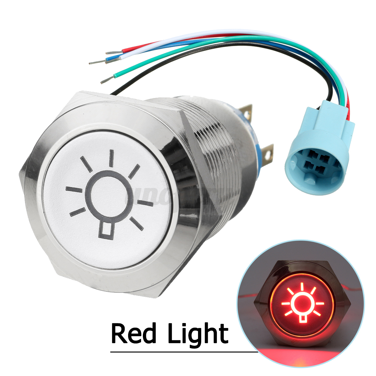 19mm 12v Car Momentary Push Button On Off Dome Switch Led Light Wiring An Outlet A