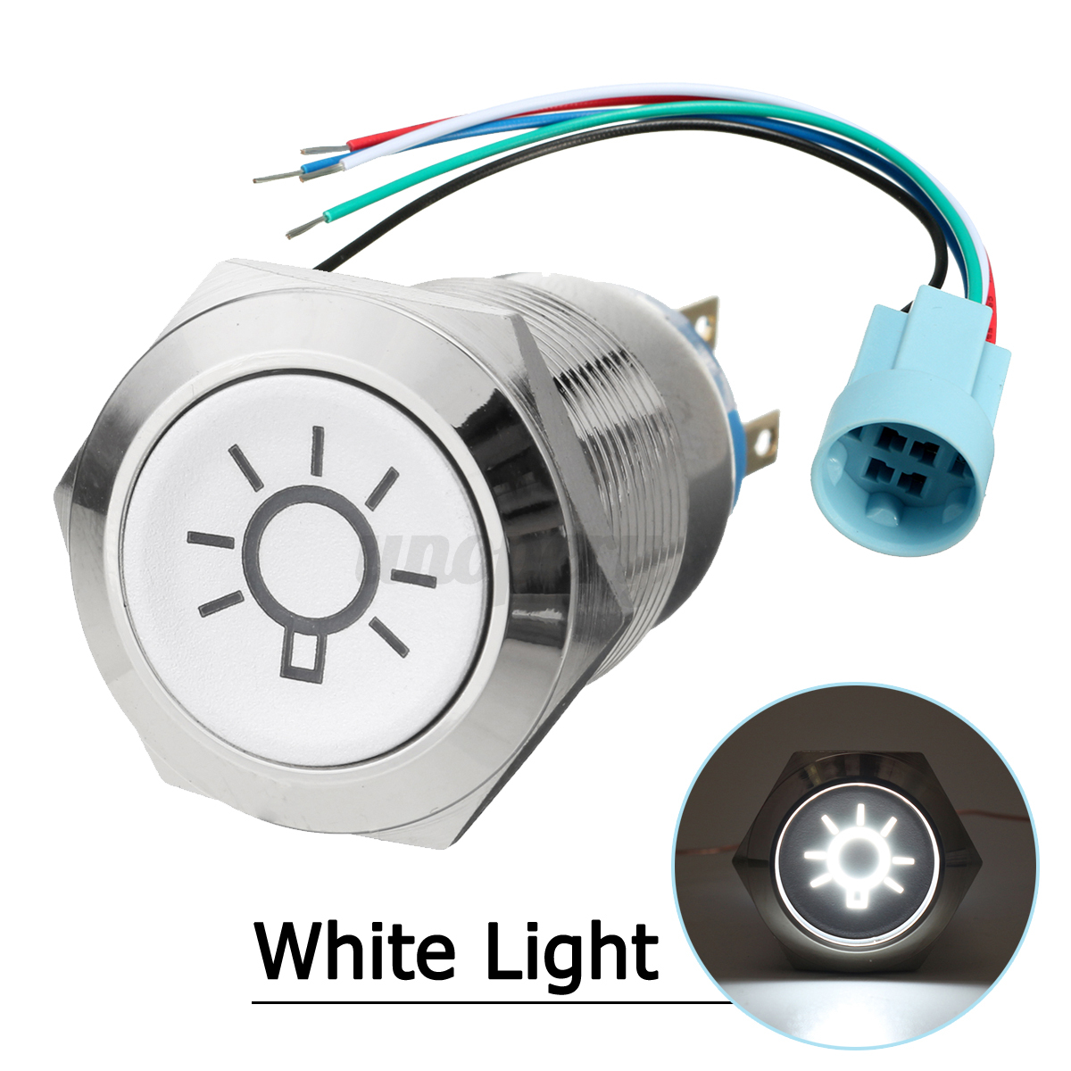 19mm 12v Car Momentary Push Button On Off Dome Switch Led Light Wiring A Lamp