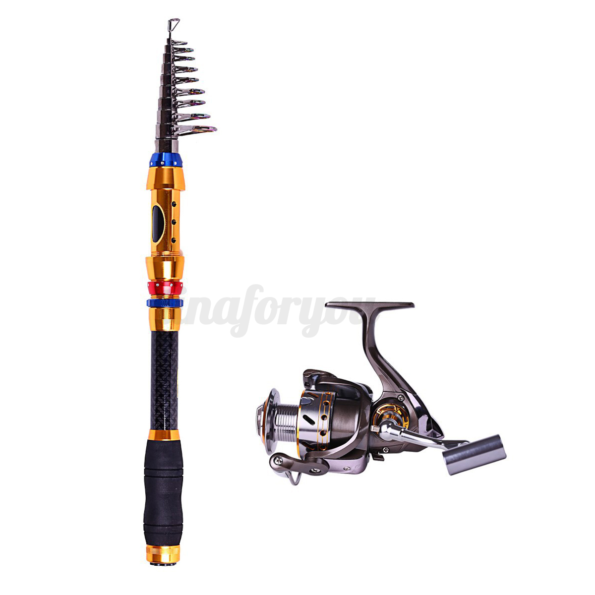 Saltwater freshwater telescopic fishing rod with reel for Ebay fishing poles
