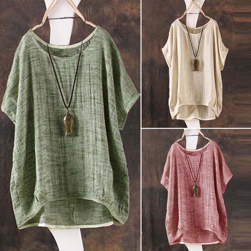 0510024362b Details about Fashion Women Summer Batwing Short Sleeve Blouse Casual Loose  Tops Shirts