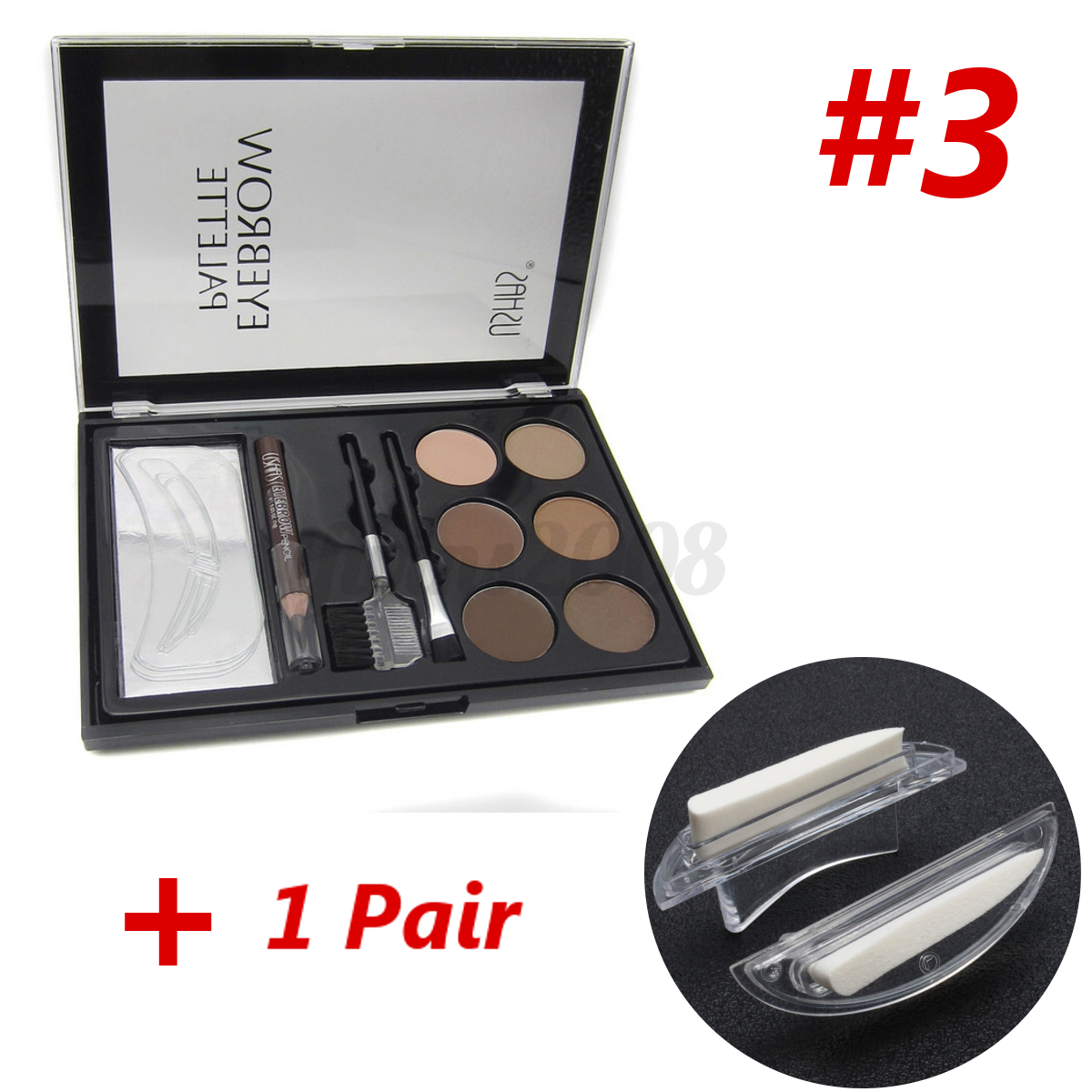 Palette-Poudre-Fard-Ombre-a-Sourcils-Stamping-Eyeliner-Pochoir-Tampon-Maquillage