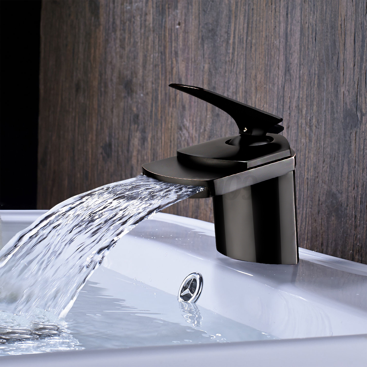 Oil rubbed bronze bathroom waterfall faucet sink vessel basin kitchen mixer tap ebay for Fountain faucets for the bathroom
