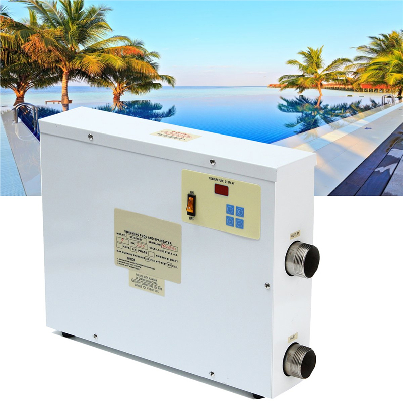 9kw 220v Digital Electric Water Heater Thermostat Swimming Pool & Spa Hot Tub - thermos - ebay.it