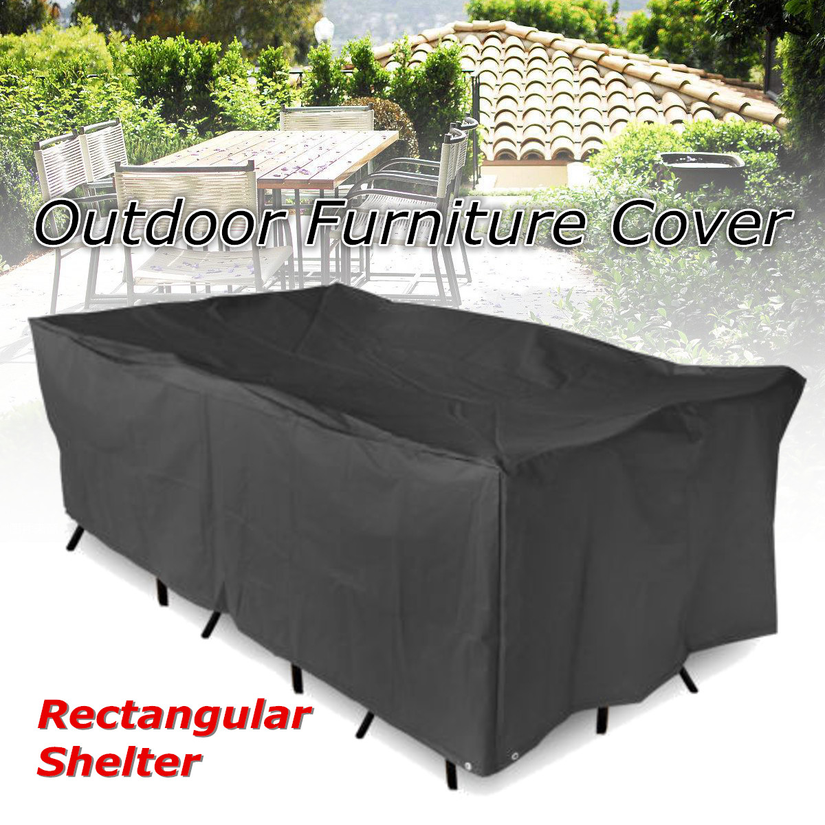 Wondrous Details About Varies Size Waterproof Furniture Cover Garden Table Chair Rectangular Protector Short Links Chair Design For Home Short Linksinfo