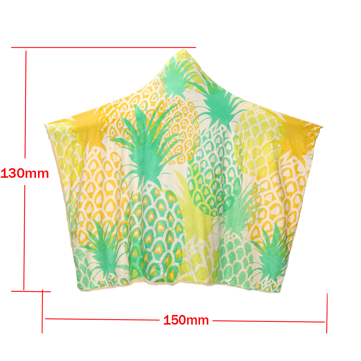 Fashion 3D Pineapple Dolphin Printed Wearable Soft Plush Cloak Hooded Blanket