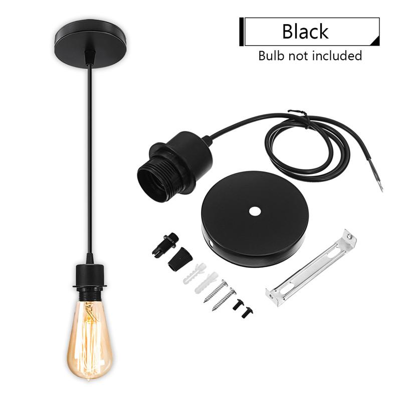 Hanging Light Bulb Fittings: E27 Screw Ceiling Pendant Lamp Bulb Holder Socket Kit Base