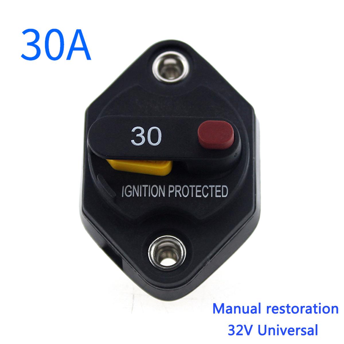 12v 24v manual reset circuit breaker switch car boat marine caravan rh ebay com au 12V Fuse Box Marine 50 Amp Fuse