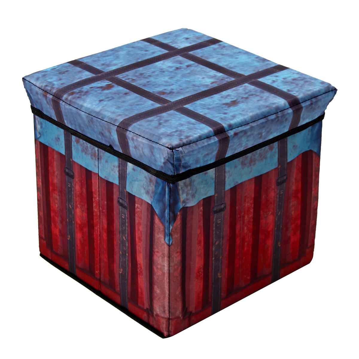 Folding-Ottoman-Storage-Cube-Footstool-Stool-Blanket-Box-Pouf-Oxford-Cloth-2Size