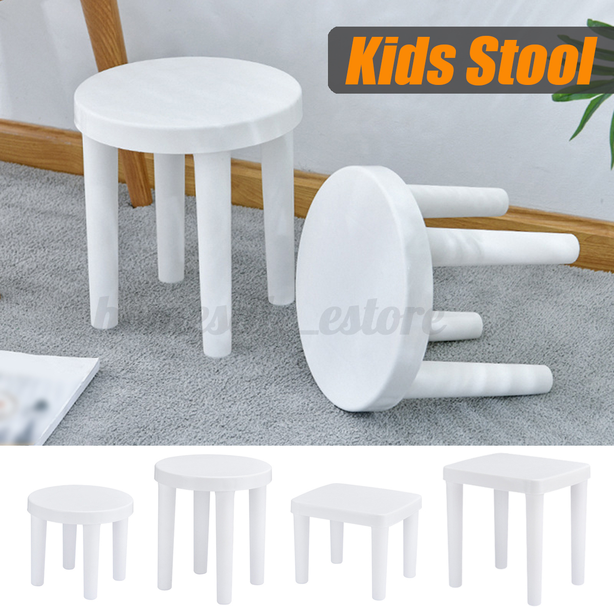 Plastic Step Foot Stool Kids Children Ladders Kitchen Bath G
