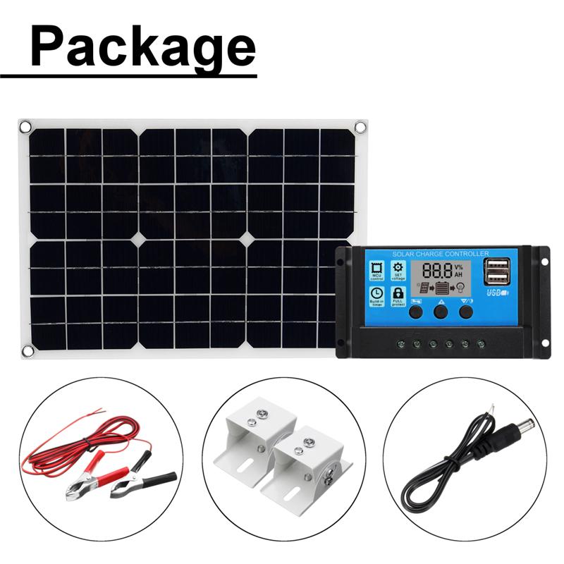 20W-USB-Mono-Solar-Panel-10A-12V-24V-Solar-Controller-Kits-with-Cable-Bracket