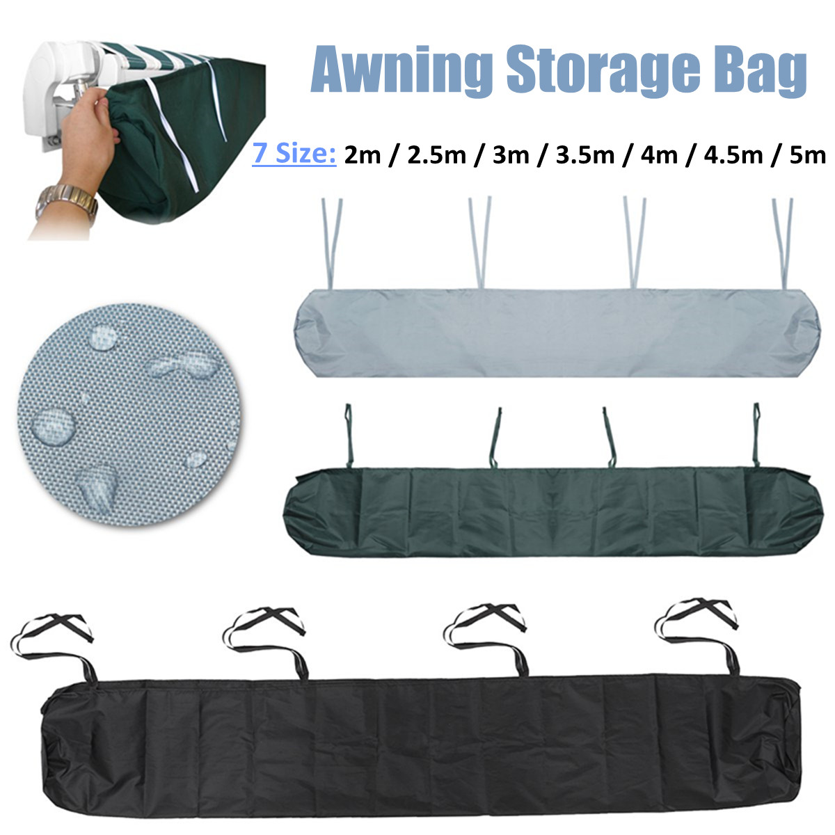 Details About 2m 5m Patio Awning Winter Storage Bag Rain Weather Cover Protector Sun Canopy