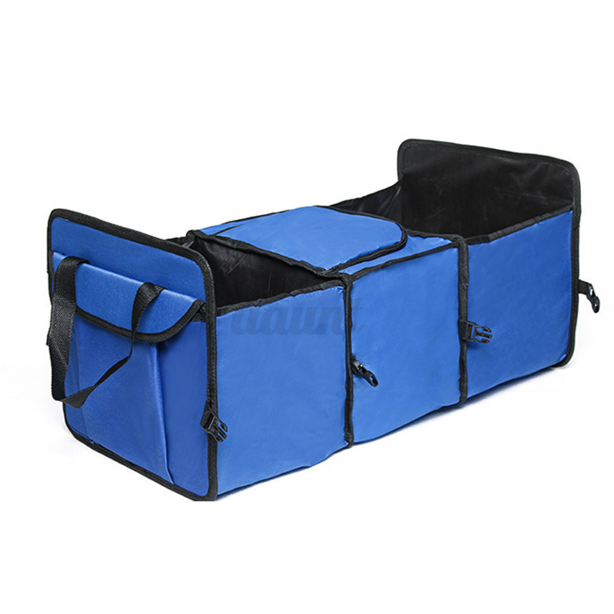Foldable cartrunk organizer with cooler 2