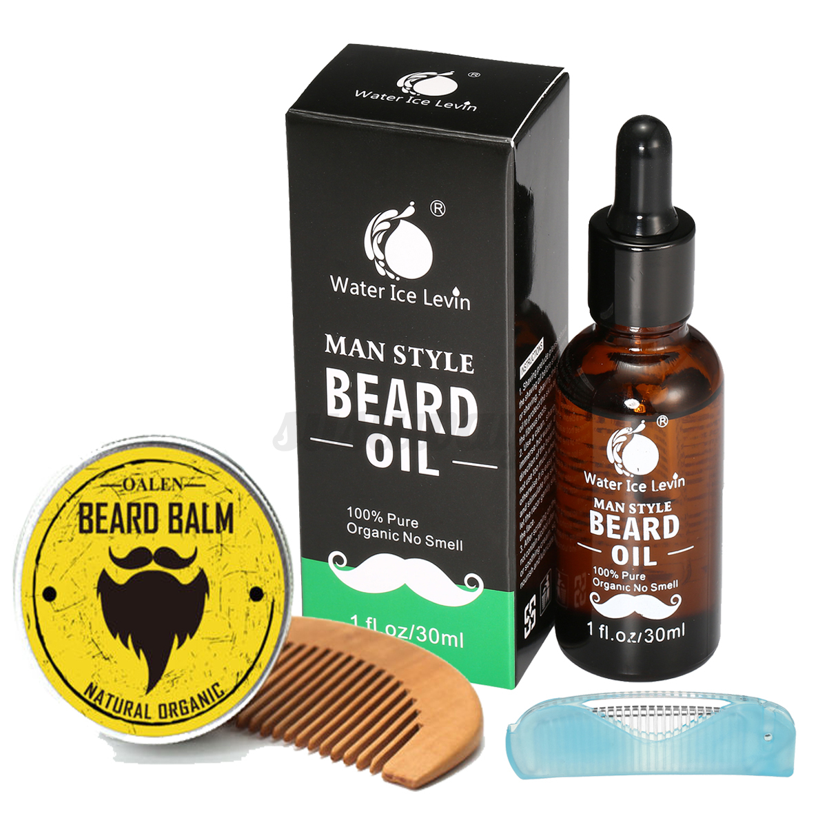 pro beard grooming kit beard balm 100 natural organic moustache oil comb ebay. Black Bedroom Furniture Sets. Home Design Ideas