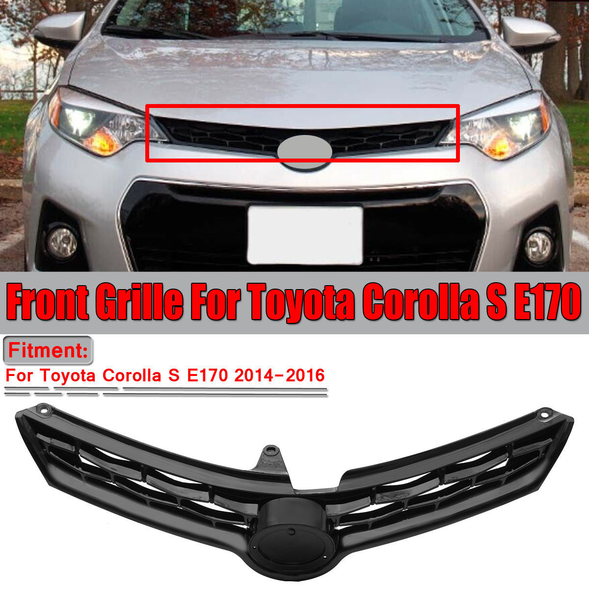 2014-2016 For Toyota Corolla Front BUMPER GRILLE