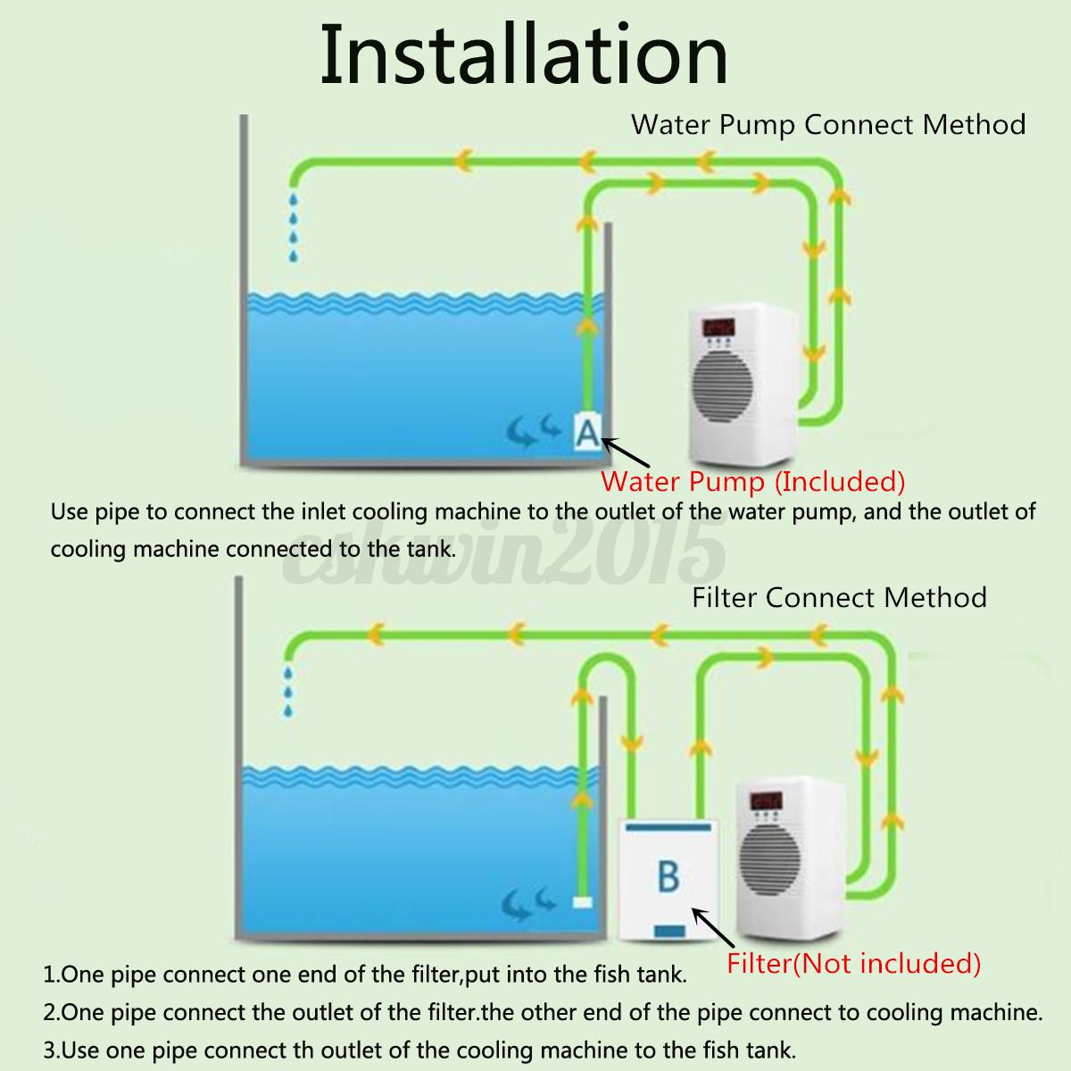 30l 100w fish shrimp aquarium tank free water cooler fan for Fish tank water cooler