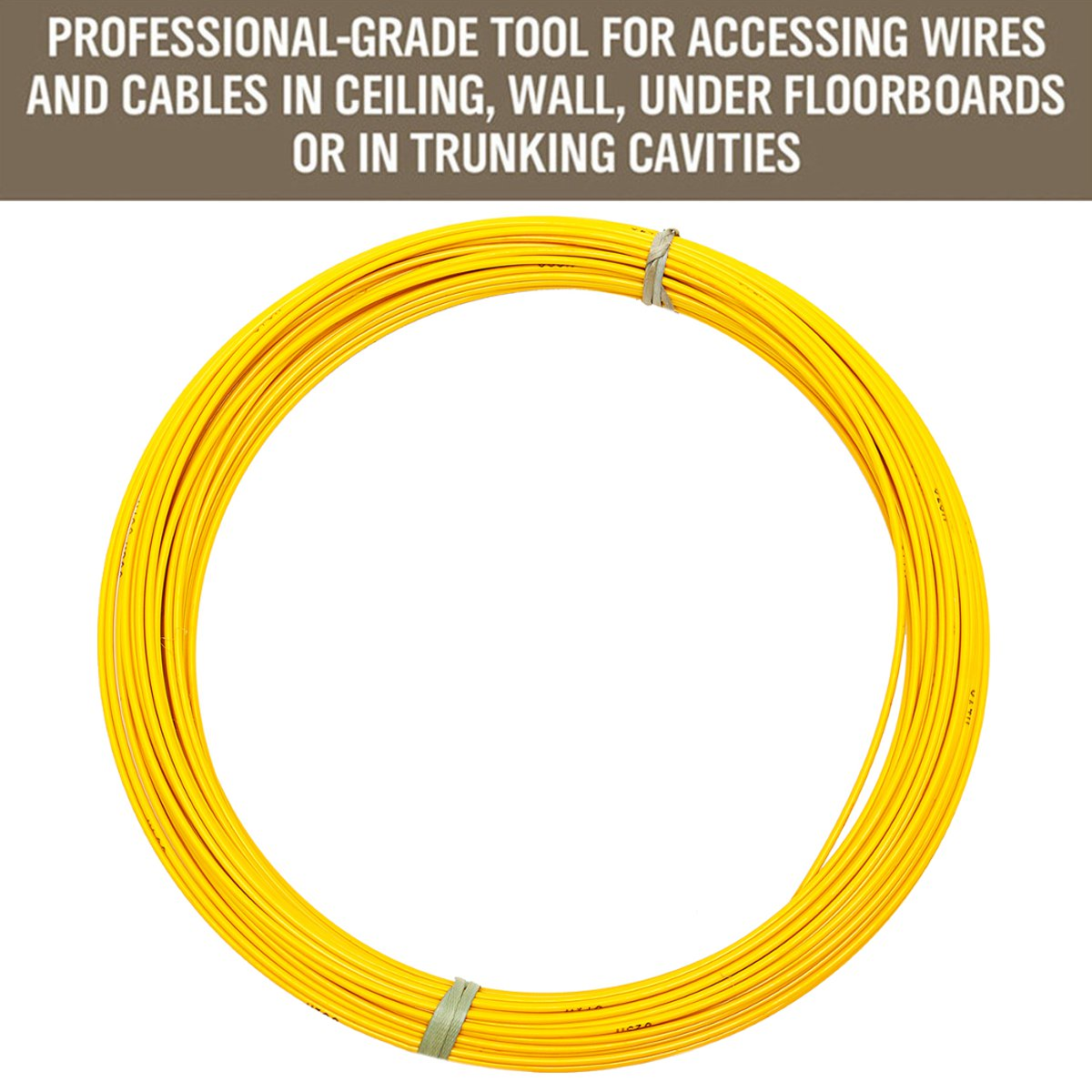 6mm X 70 150m Fiberglass Rodder Fish Snake Wire Cable Puller Tape House Wiring Under Floorboards Detail Image