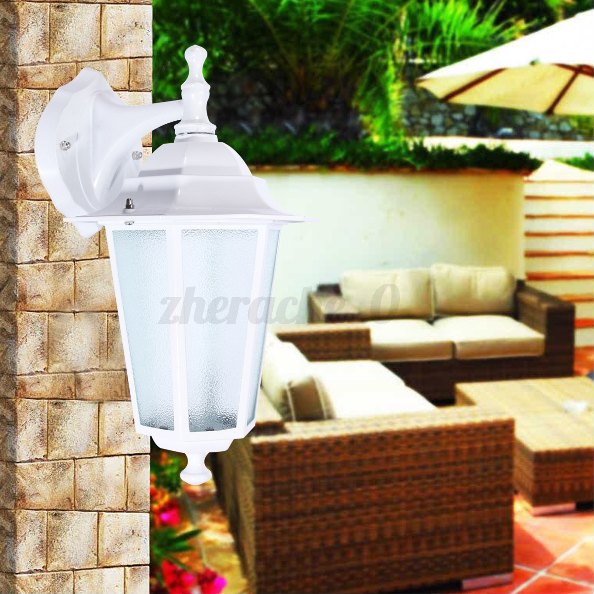 Aluminum-Glass-Wall-Light-Fixture-Exterior-Lantern-Outdoor-Garden-Lamp-Decor