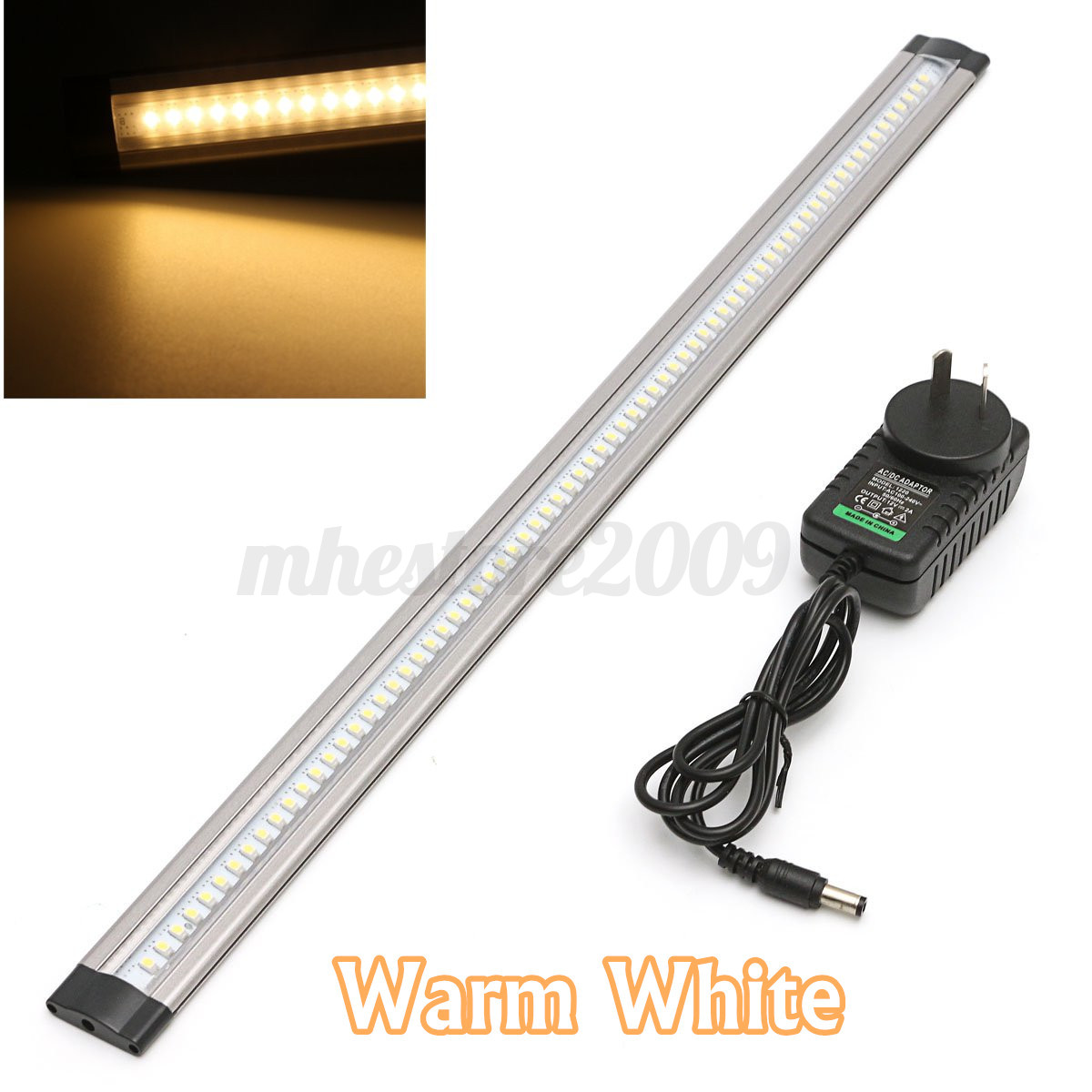 2x Led Under Cabinet Strip Lights 12w Led 12v Driver: 50cm LED Under Cabinet Cupboard Counter Strip Light & AU
