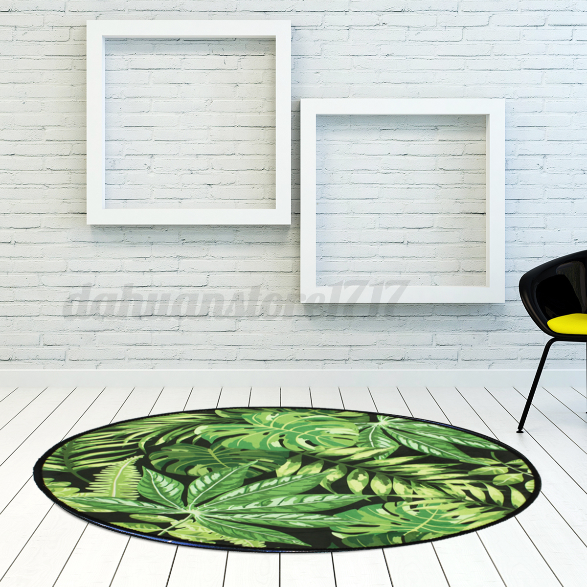Palm-Green-Leaves-Round-Carpet-Area-Rugs-Yoga-Floor-Mat-Home-Living-Room-Decor