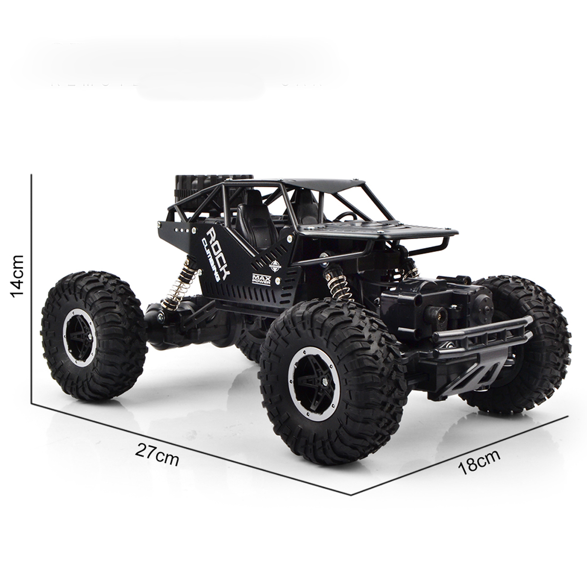 24g Rc Truck Off Road Monster Remote Control Climbing Car Military Dump Music 14 Cm Detail Image