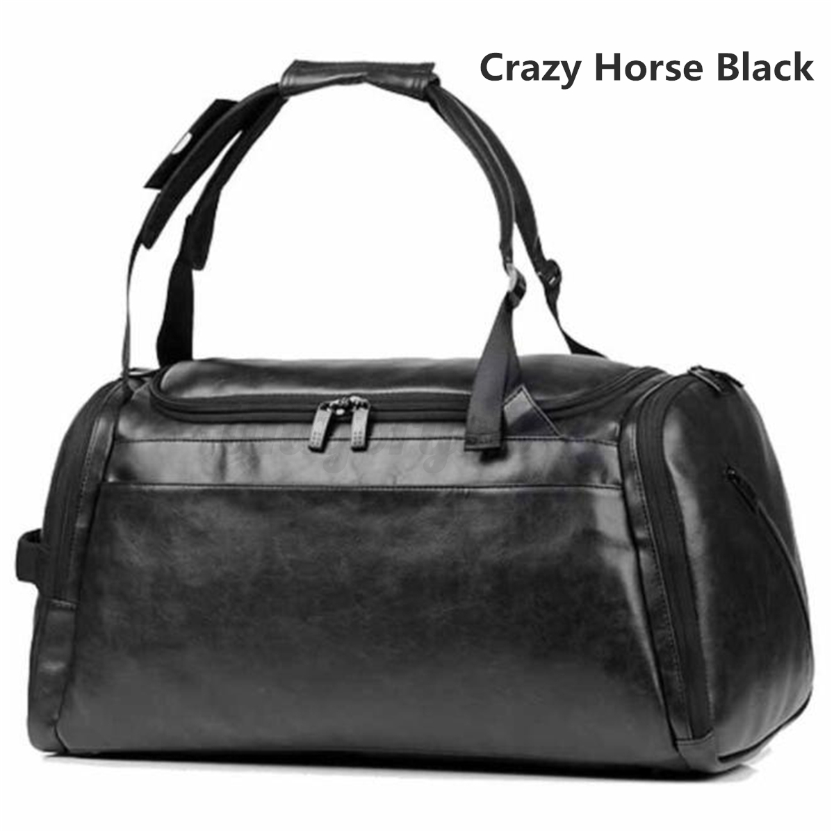 Men-Leather-Sports-Gym-Travel-Fitness-Bag-With-Shoe-Storage-Luggage-Duffle-Tote thumbnail 14