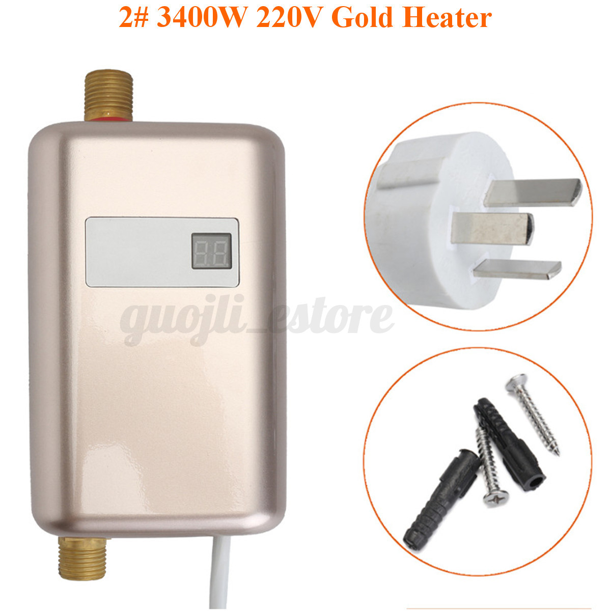 4 tpyes 220v electric tankless instant water heater shower hot system bathroom ebay for Tankless water heater for bathroom