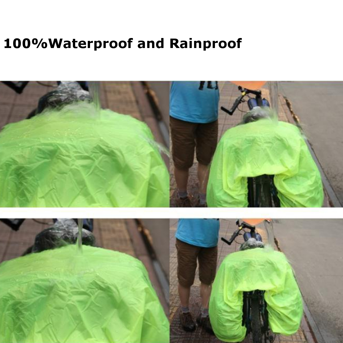 Bicycle Rain Cover For Bike Rear Seat Bag Dustproof Outdoor Waterproof