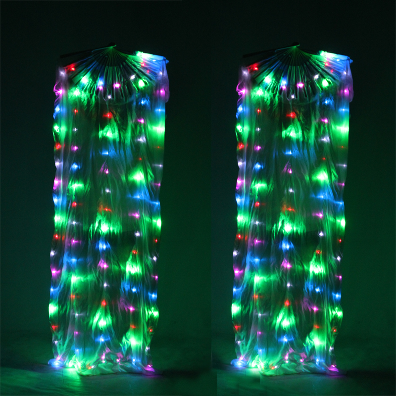 LED-Fan-Veils-Praise-Worship-Glow-Light-Belly-Dance-Silk-Pair