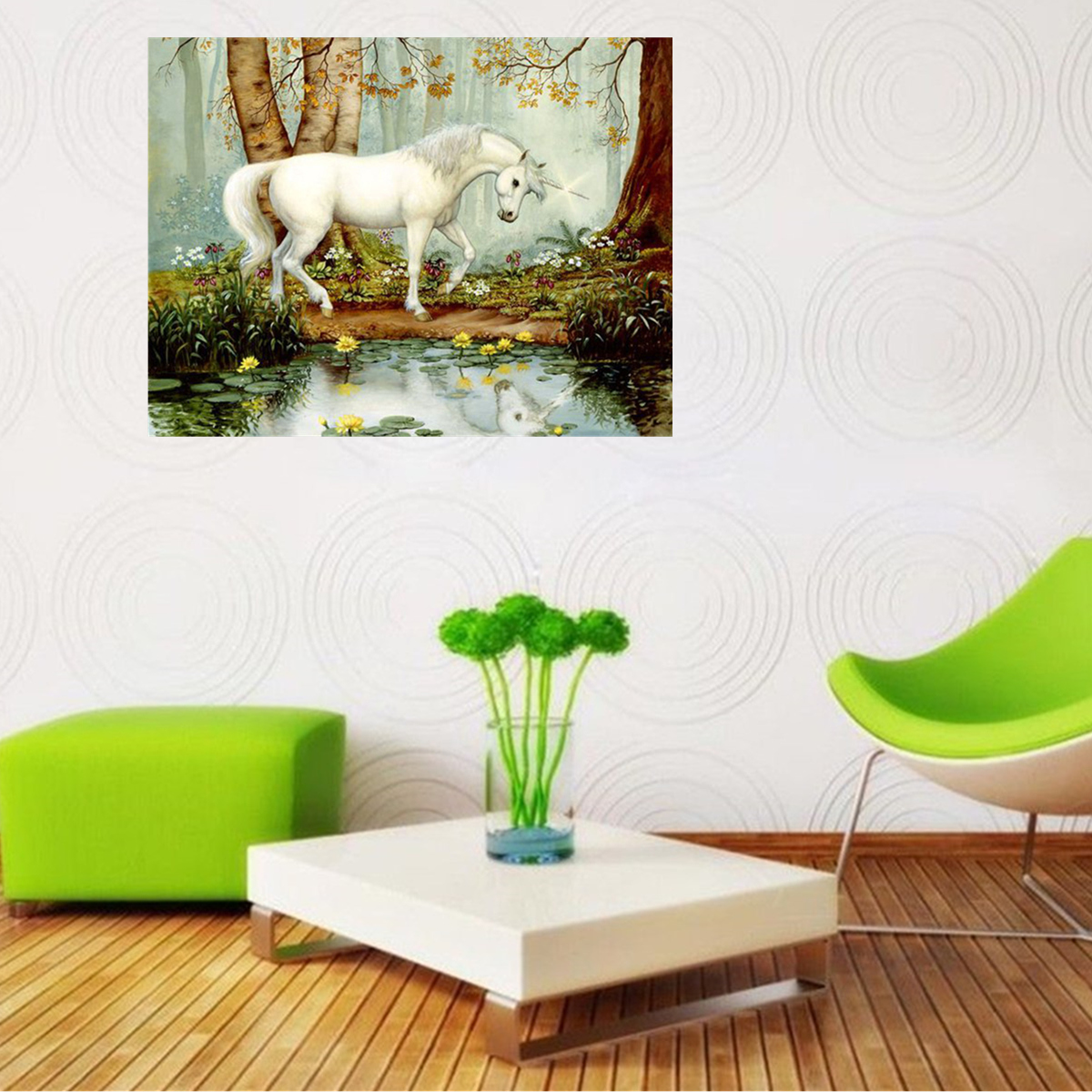30x40cm Unicorn 5d Diy Diamond Painting Kit Cross Stitch Wall Home Decor Craft Ebay