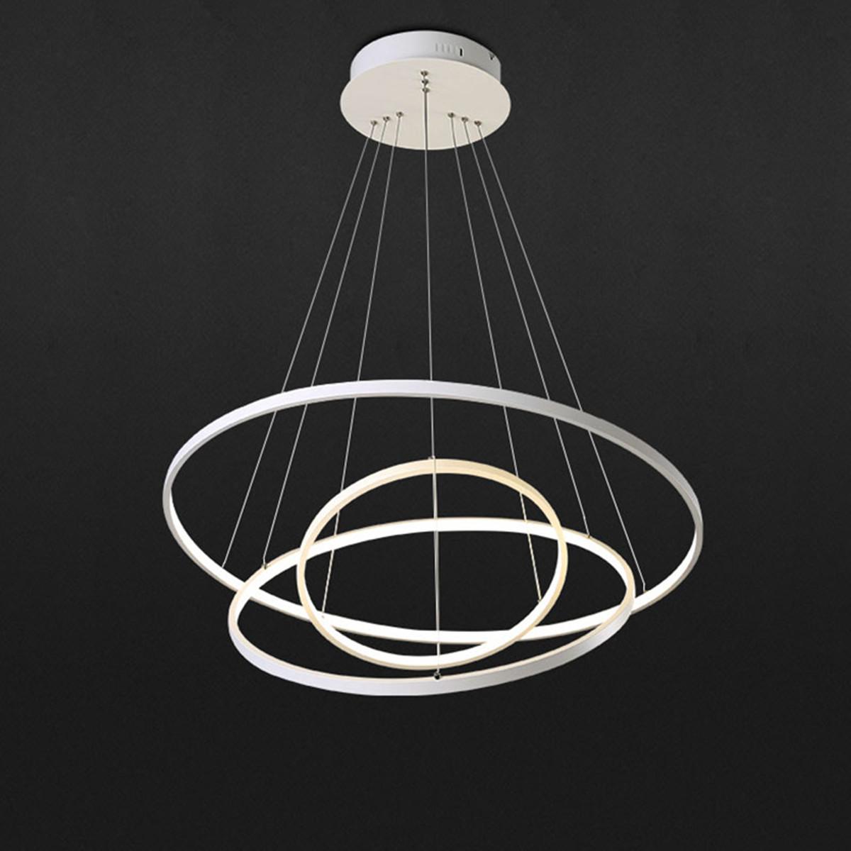 Modern 3 Tier Led Ring Chandelier Pendant Lamp Ceiling: Modern 3 Ring Pendant Light Acrylic Aluminum LED