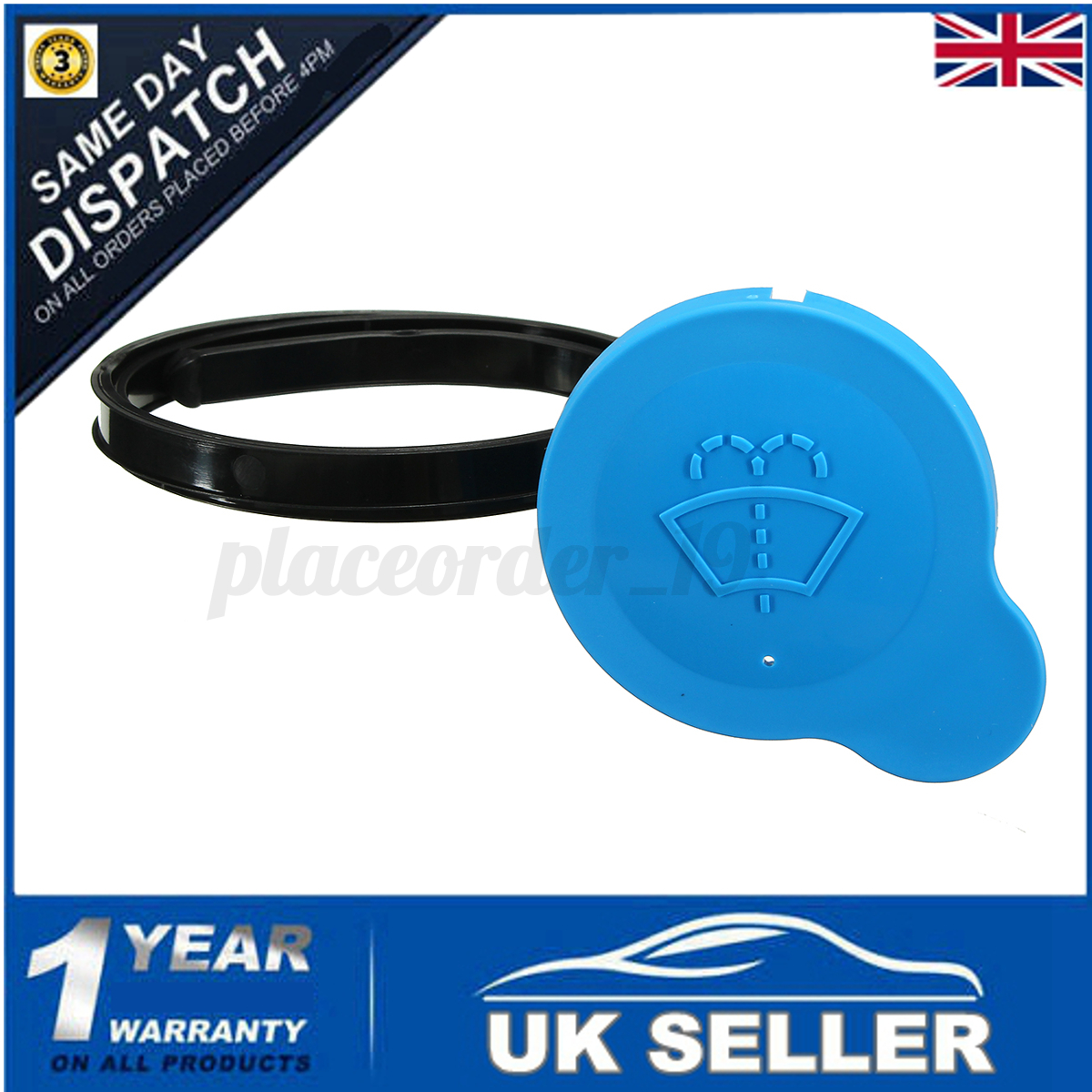High Quality Car Windscreen Reservoir Washer Bottle Cap Blue for Nissan Qashqai Replacement for Broken or Missing One