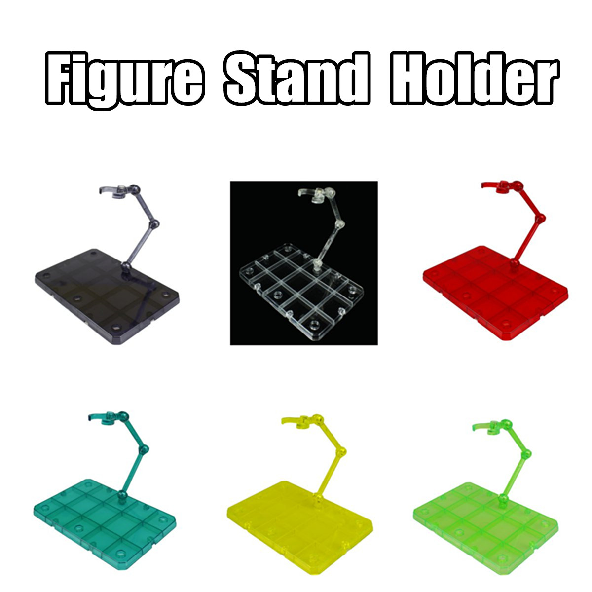 Clear Action Figure Base Display Stand Holder Fit For HG SHF RG SD Gundam
