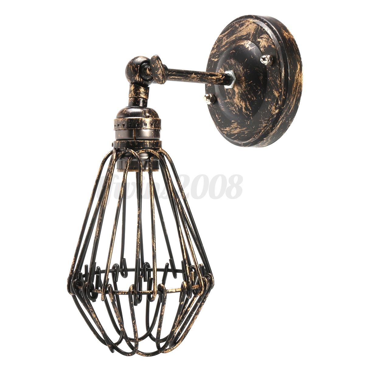 Vintage retro industrial wandleuchte antik stil eisen kunst wandlampe leuchte ebay - Wandlampe vintage retro ...