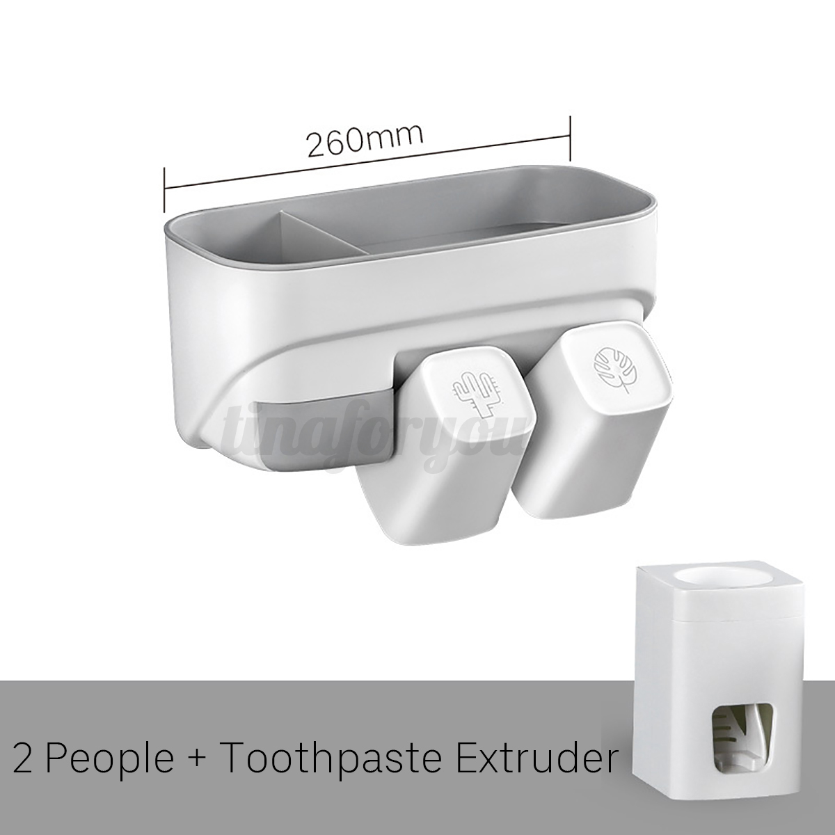 Toothbrush-Toothpaste-Tumbler-Holder-Bathroom-Accessory-Shelf-Rack-Organiser-DIY thumbnail 9
