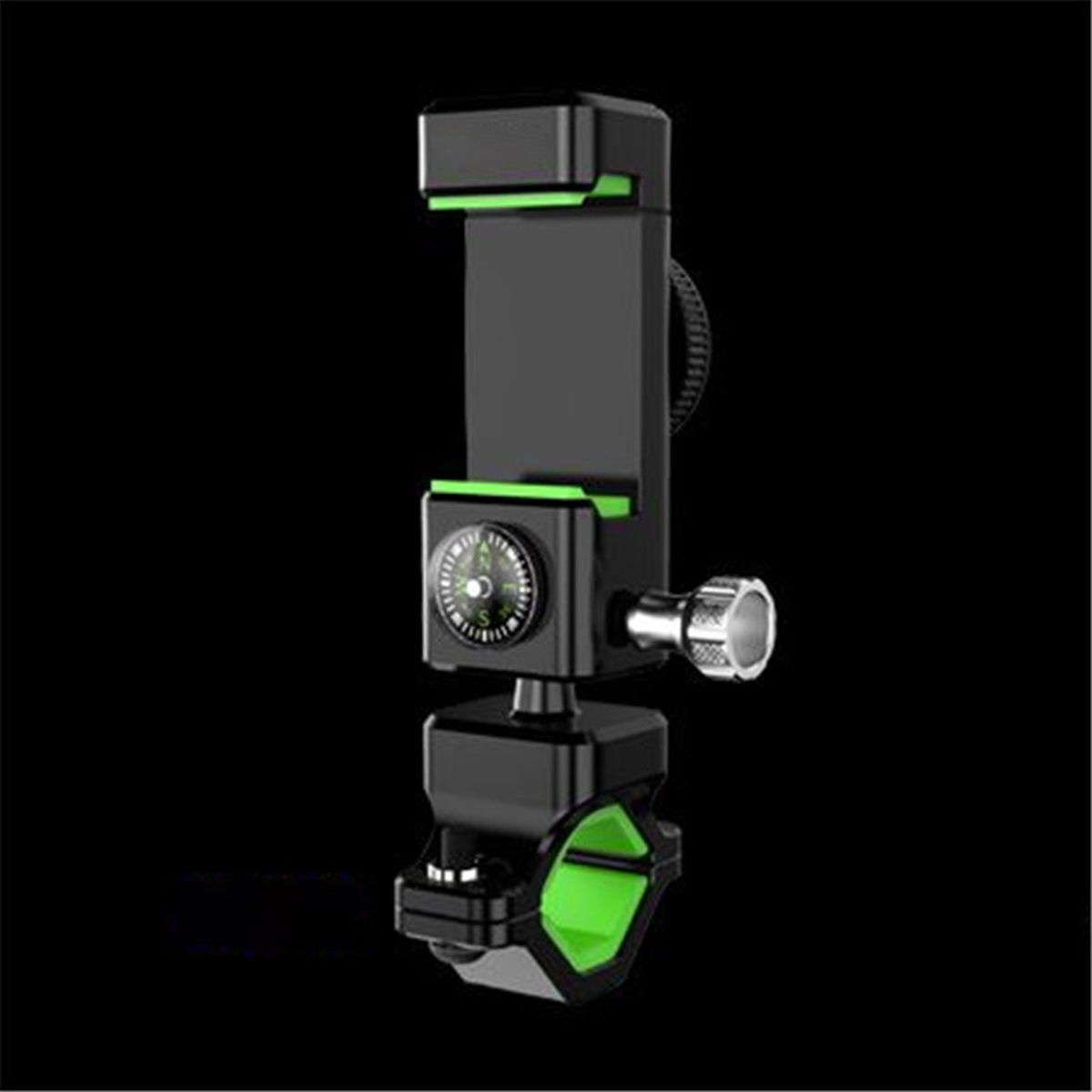 Bicycle-Bike-Motorcycle-MTB-Handlebar-Phone-Holder-Mount-W-LED-Light-amp-Compass
