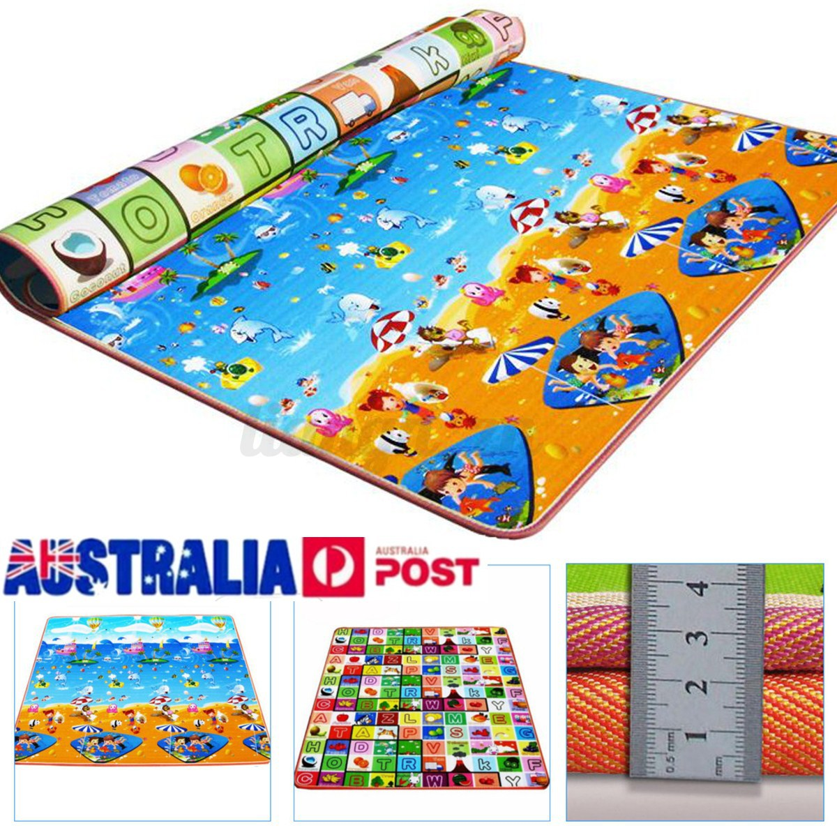 Mother & Kids Activity & Gear Baby Play Mat 0-12 Months Baby Soft Gym Blanket Crawling Toy Kids Rug Floor Mat Boy Girl Carpet Game Mat For Children Education Excellent Quality