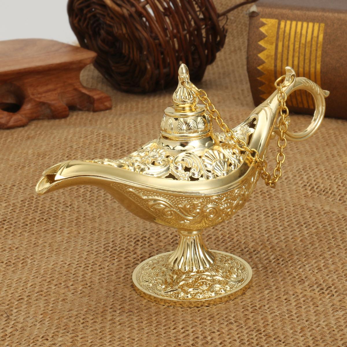 Aladdin Wunderlampe Messing Aladin Lampe Öllampe Gefäß Räuchergefäß Panto Genie
