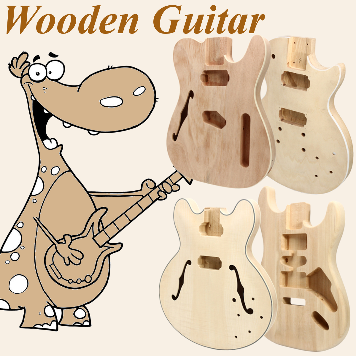 Details about Electric Guitar Body DIY Solid Mahogany Wood Unfinished  Guitar Parts Handcraft