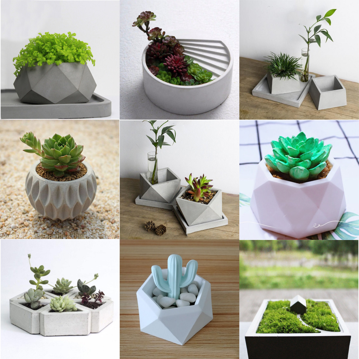 Details About Flower Pot Silicone Molds DIY Garden Planter Cement Concrete  Vase Soap Moulds