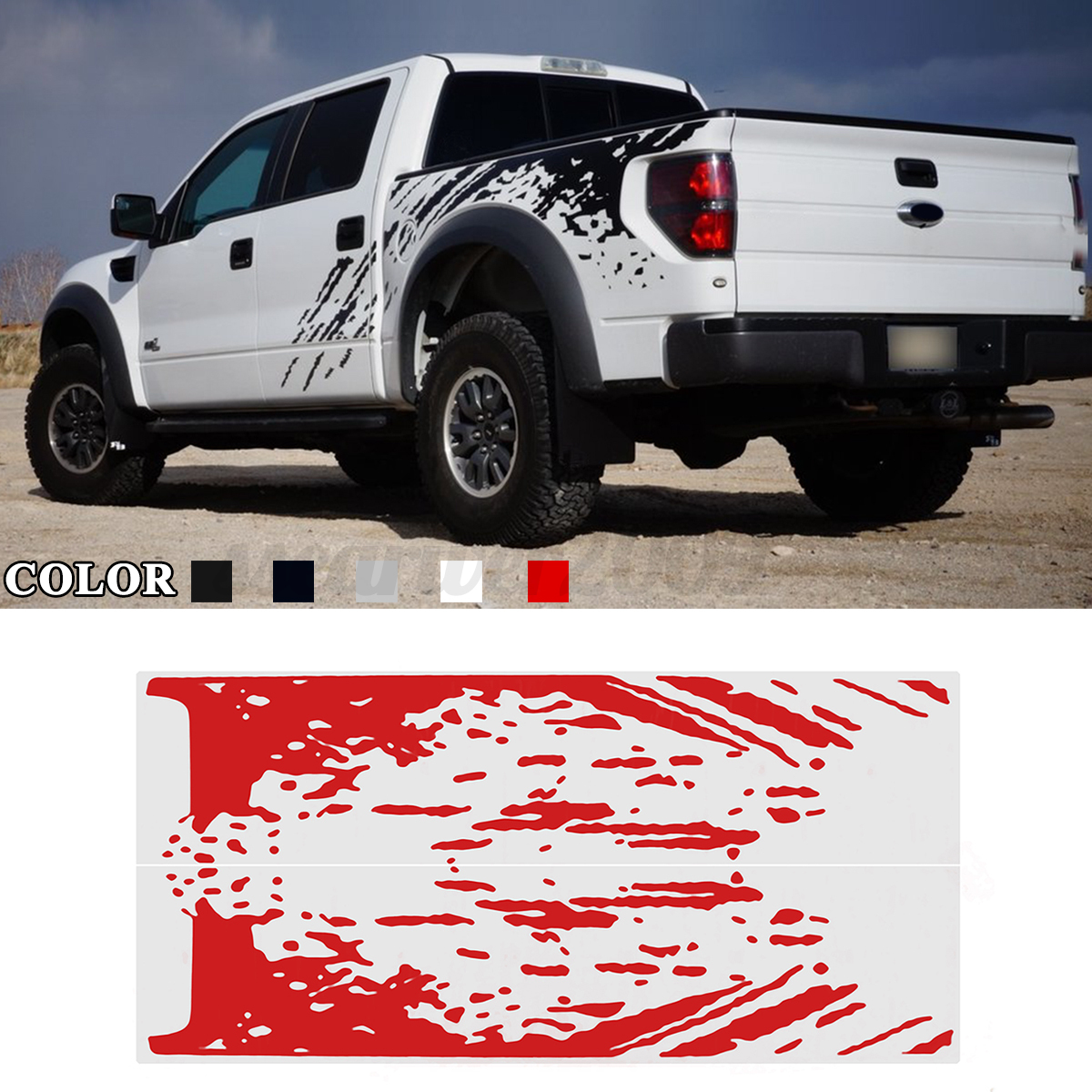 Image is loading decal sticker vinyl car side mud splash kit