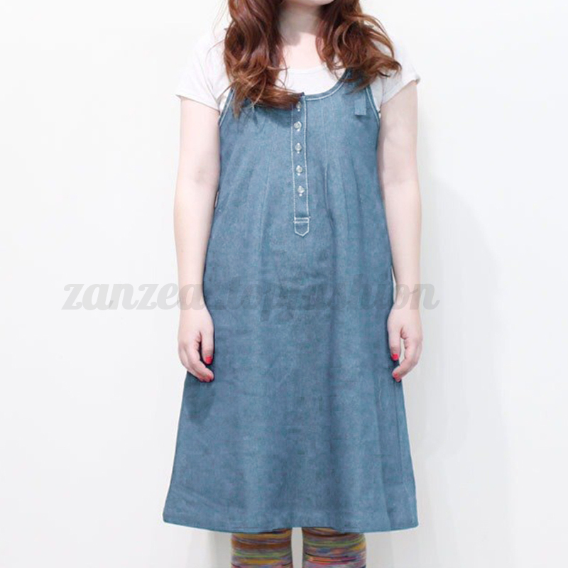 7a5ae64abc8 Womens Casual Sleeveless Denim Strap Loose Bib Overall Suspender ...