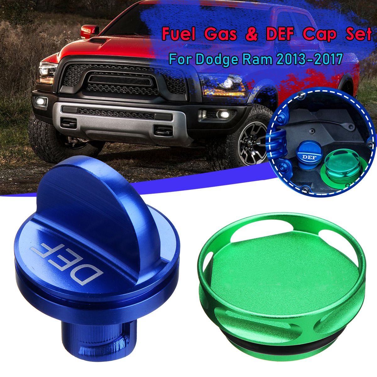 Automobiles & Motorcycles Auto Replacement Parts Alloy Aluminum Magnetic Truck Fuel Oil Def Cap Cover Engine Oil Tank Cover For Dodge Ram 2013-2017