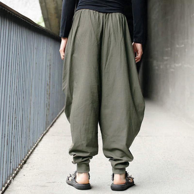 ZANZEA Damen Mode Beiläufig Bequem Weitem Bein Lose Langes Hosen Oversize Plus
