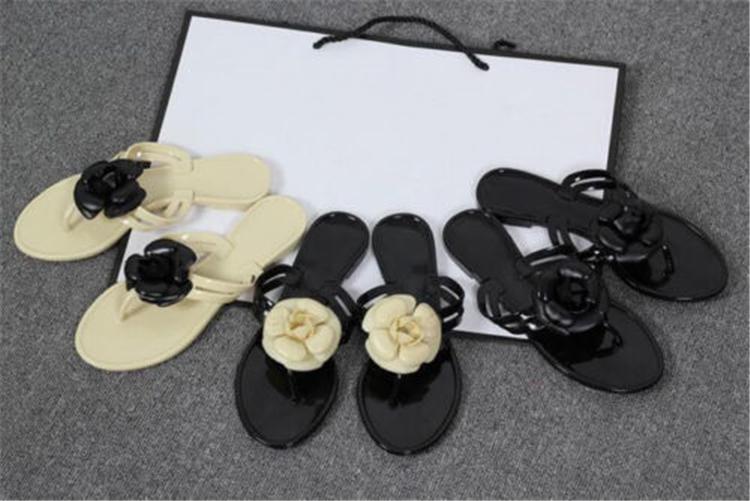 Summer Women's Flowers Jelly Sandals Flip Flops Beach Thong