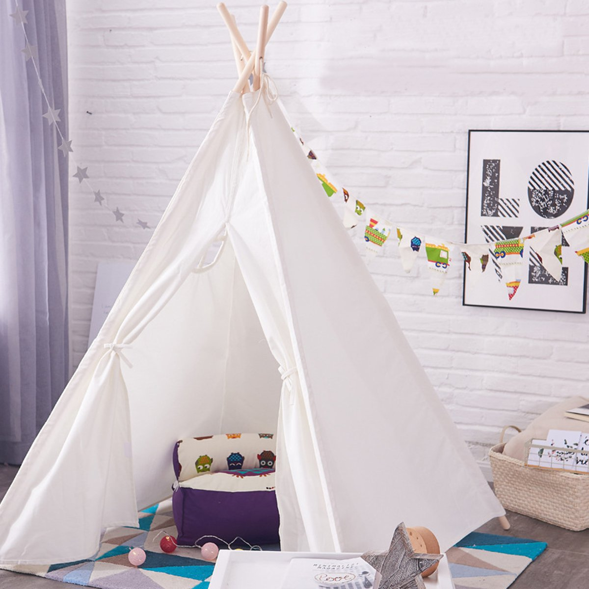 Tents For Kids Part - 39: Portable-Kids-Pet-Tents-Children-Home-Teepee-Sleeping-
