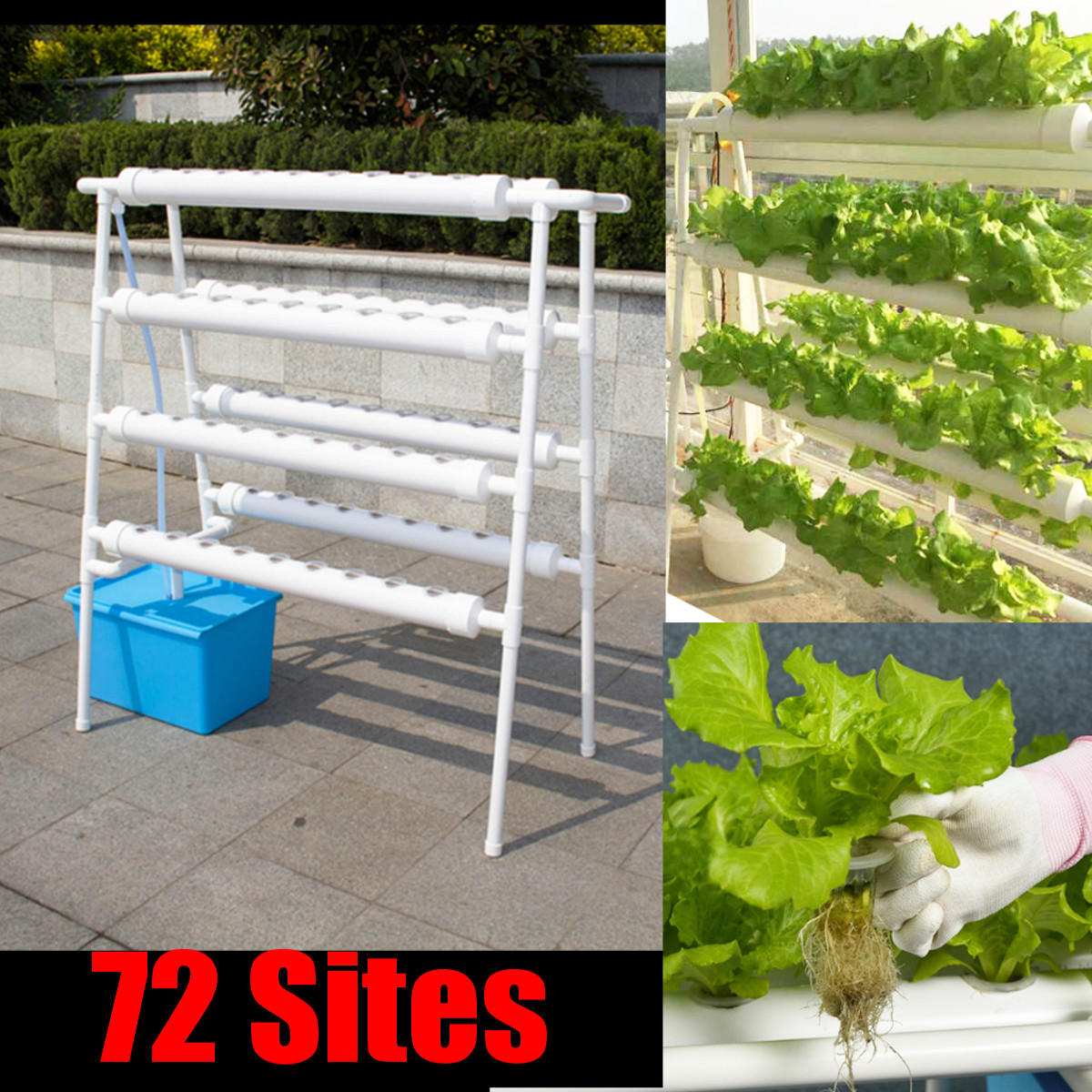 Beautiful Image Is Loading 72 Sites Hydroponic Site Grow Kit Ladder Type