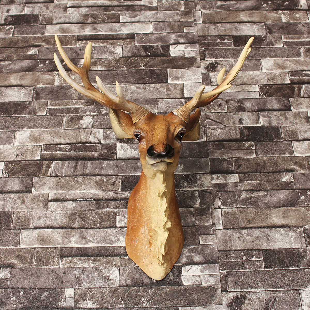 Simulation Retro Wall Mounted Stags Head Deer Antlers Wall