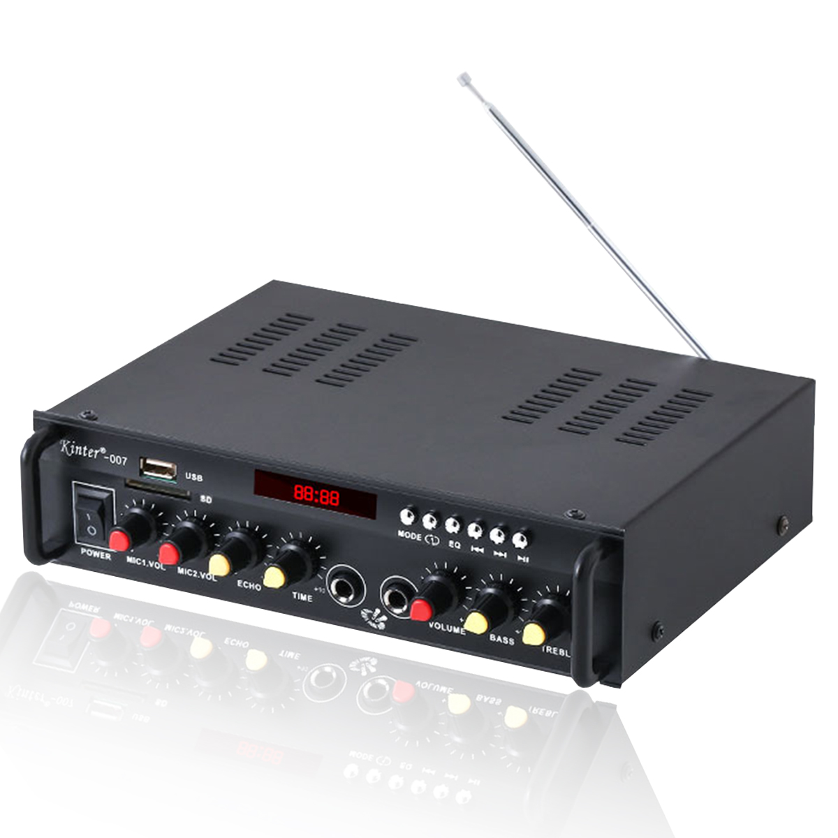 Details about  Kinter-007 2Channel bluetooth Home Stereo Sound Power Amplifier Audio USB AMP FM