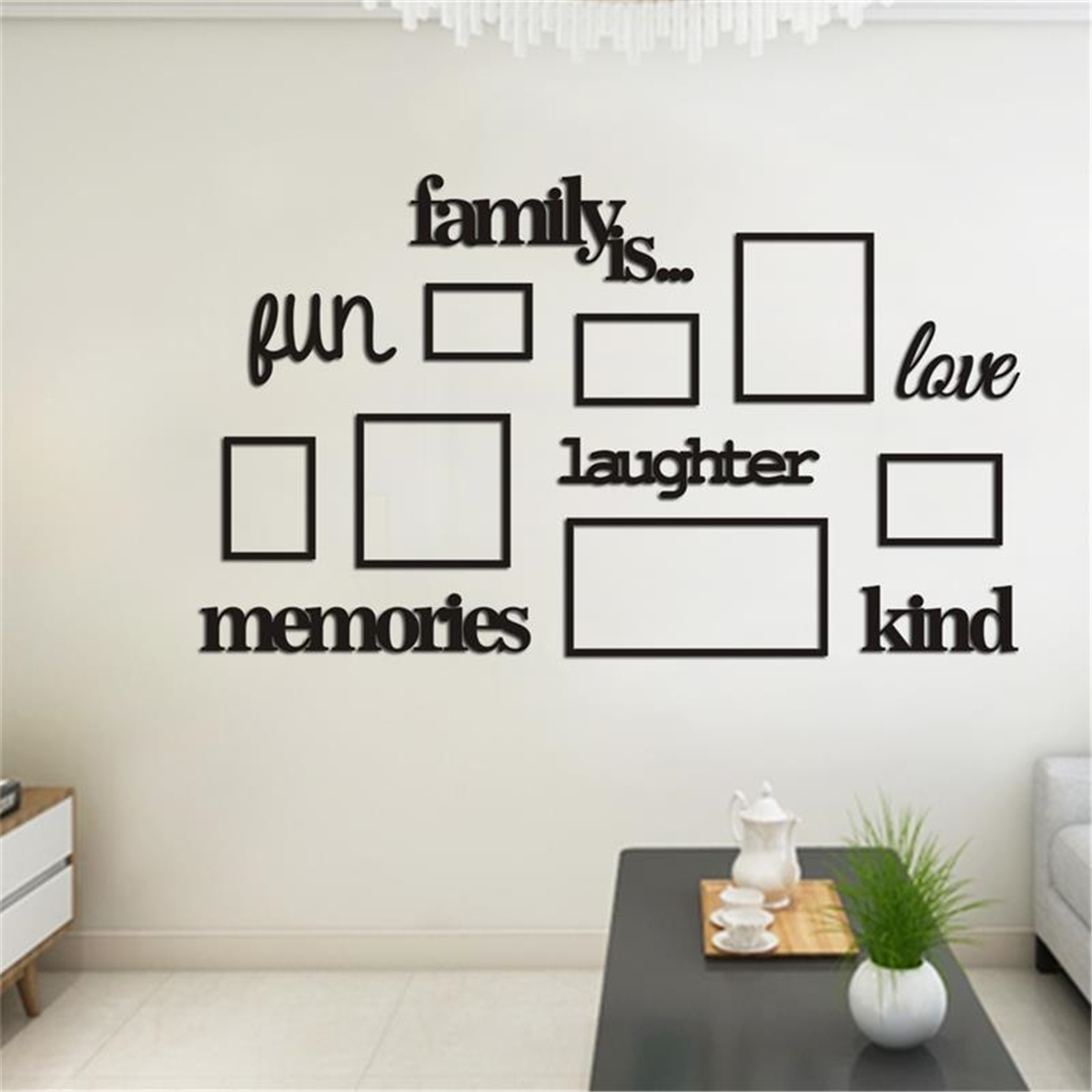 Diy 3d Family Tree Photo Picture Frame Acrylic Kit Collage Wall Art