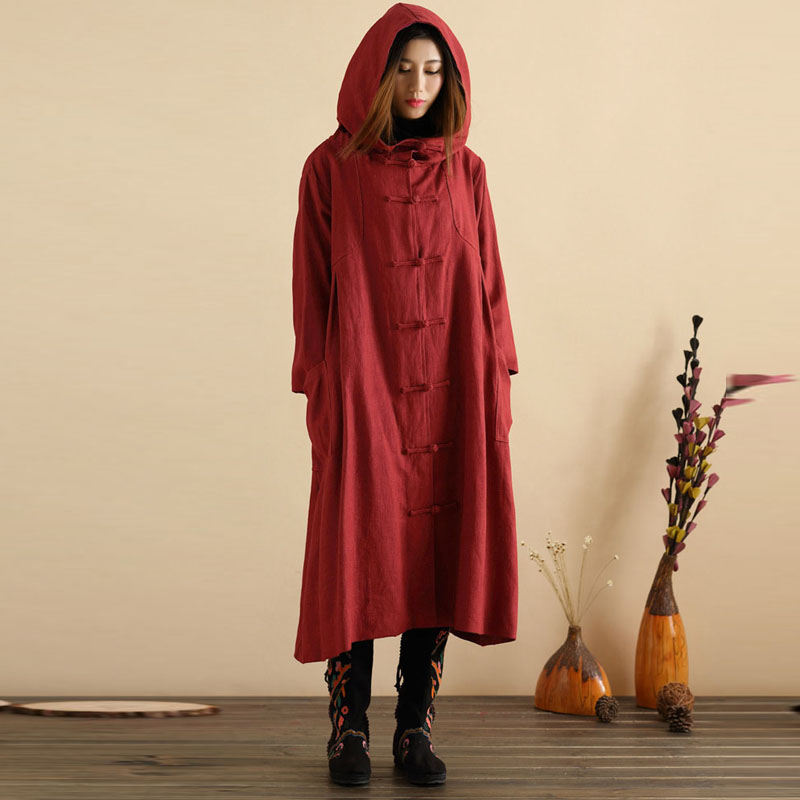 UK-10-24-Women-Hooded-Vintage-Long-Coat-Poncho-Jacket-Outwear-Tunic-Shirt-Dress